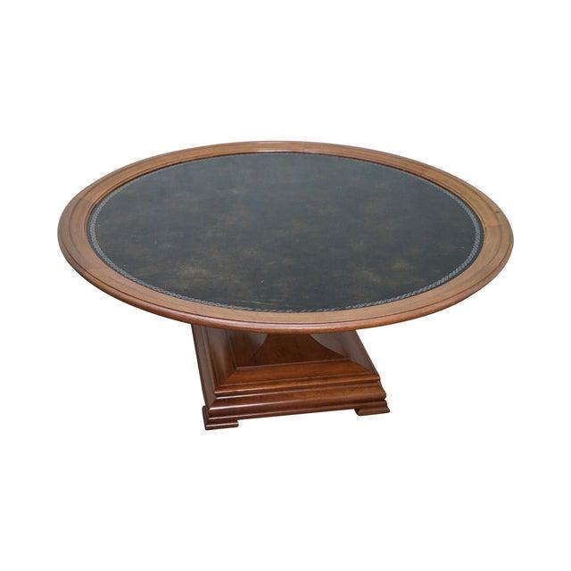Heritage Mahogany Leather Top Coffee Table Chairish