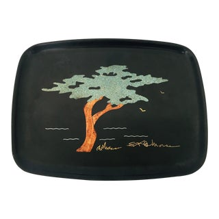 Vintage Couroc Tree Tray
