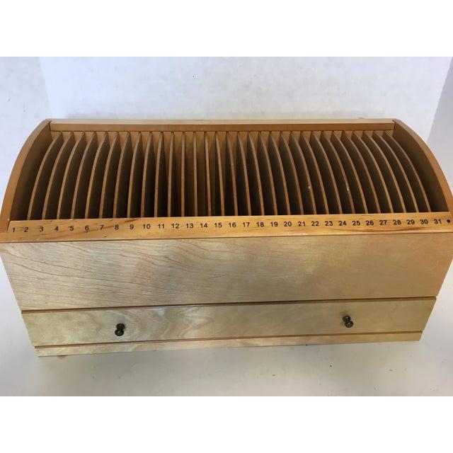 Mid-Century Modern Vintage Desktop Numbered Wood Letter Organizer For Sale - Image 3 of 4