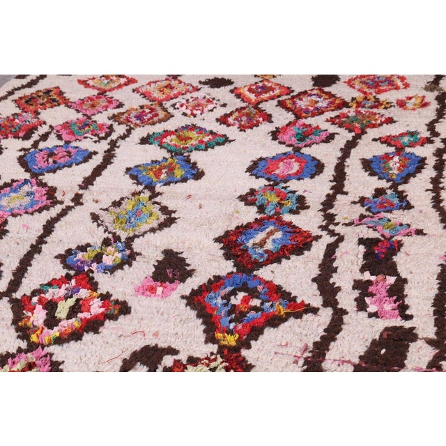 Hand Knotted Floral Geometric Moroccan - 4' X 7' For Sale - Image 4 of 6