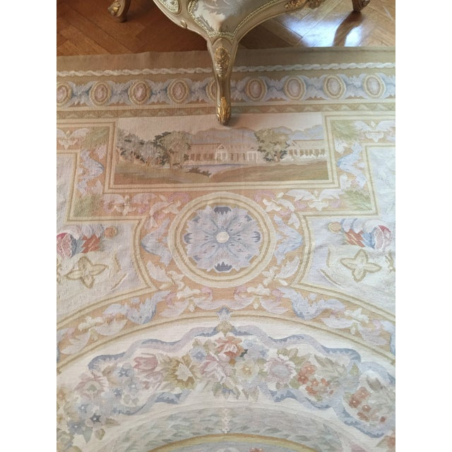 Aubusson French Wool Rug - 9′9″ × 14′2″ - Image 10 of 11