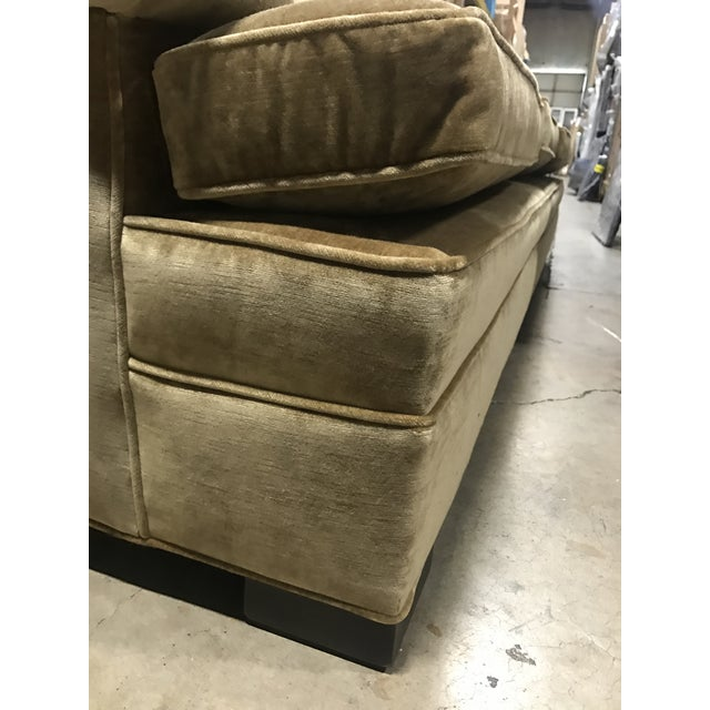Contemporary Robert Allen for Lee Industries Velvet Upholstered Sofa For Sale In Austin - Image 6 of 9