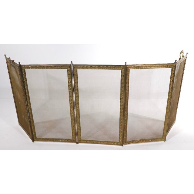 French French Folding Fireplace Screen Spark Gard For Sale - Image 3 of 13