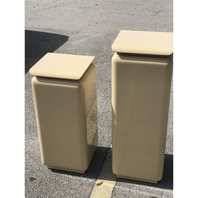 Art Deco Mid Century Modern Rougie Pedestals- a Pair For Sale - Image 3 of 9