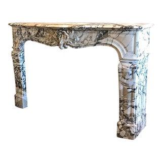 Antique Carrara Marble Mantel, circa 1750