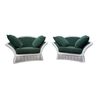Ficks Reed Rattan Chairs - a Pair For Sale