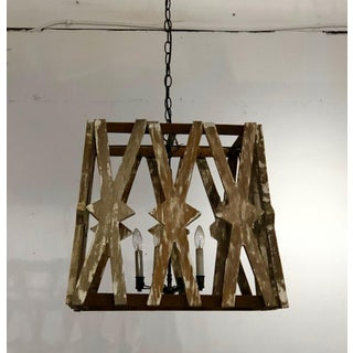 Reclaimed Pine Chandelier Preview