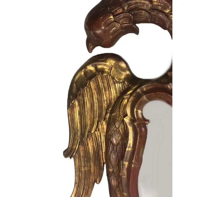 Traditional Late 19th Century Carved Giltwood Two-Headed-Eagle Wall Mirror For Sale - Image 3 of 8