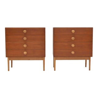 1960s Danish Modern Borge Mogensen Teak and Oak Chests of Drawers For Sale