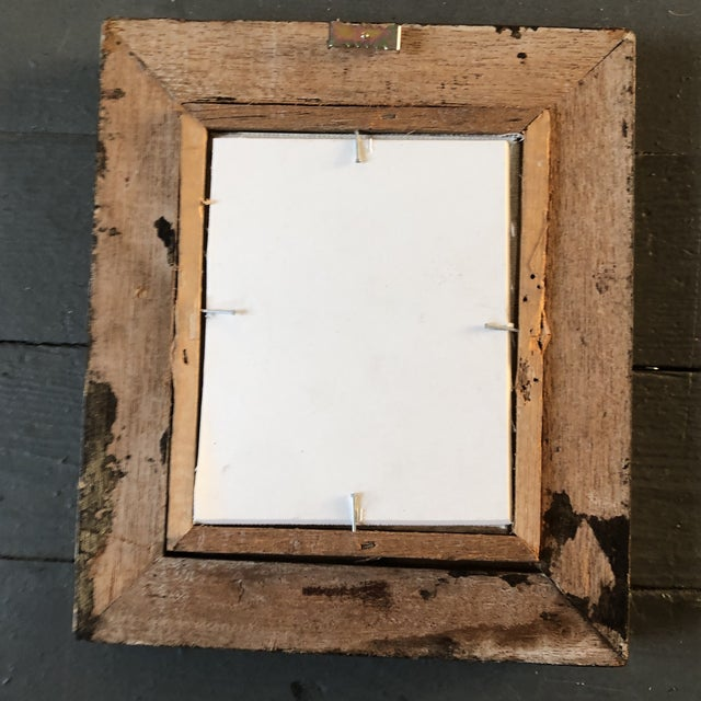 1950s Vintage Original Miniature Ralph Nelson Abstract Painting Vintage Frame 1950's For Sale - Image 5 of 6