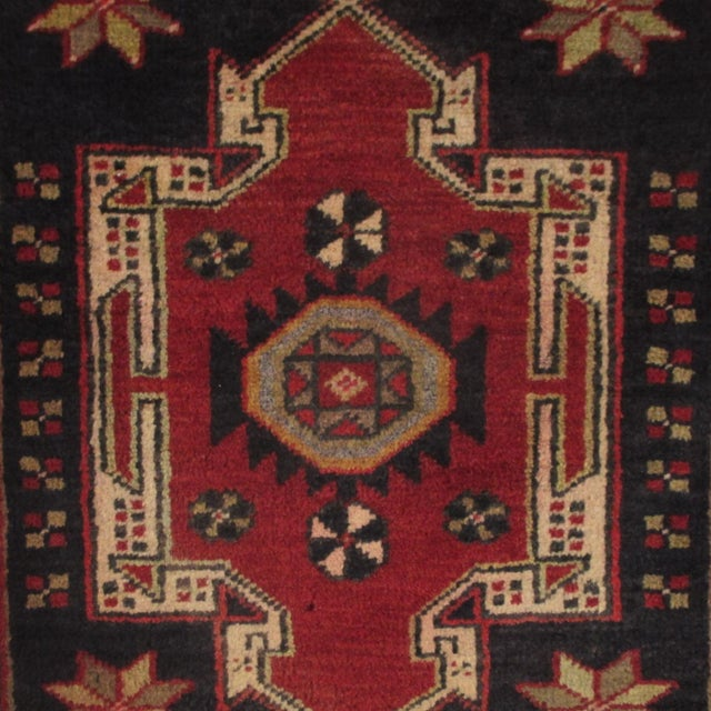 Geometric Medallions Yastik | 1'8 x 3' Turkish Carpet - Image 2 of 2