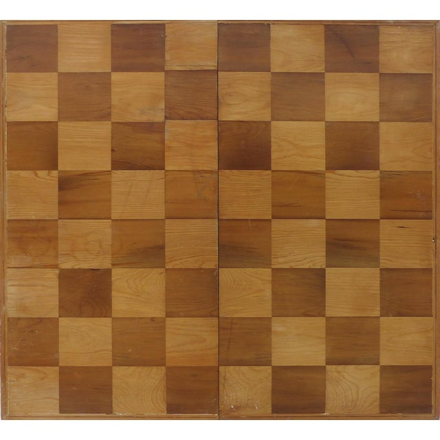 Traditional Monumental Wood Case Chess Set W/ Plaster Chess Pieces For Sale - Image 3 of 11