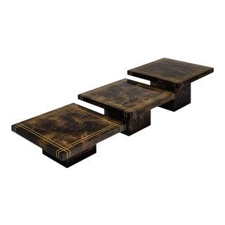 Modernist Italian Nesting Tables by Aldo Tura For Sale