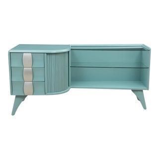 Midcentury Style Heywood Wakefield Blue Cabinet
