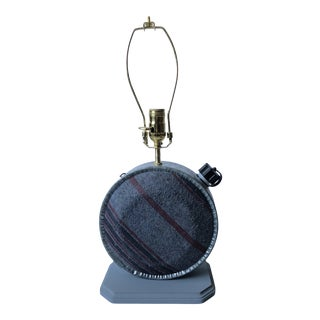 Vintage Wool Canteen Rustic Lamp For Sale