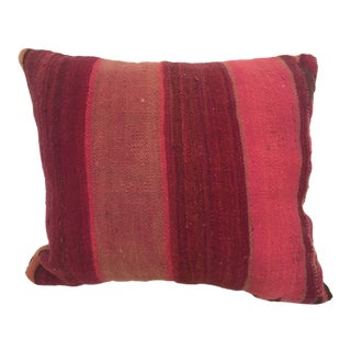Moroccan Berber Pillow Cut From a Vintage Tribal Stripes Rug For Sale