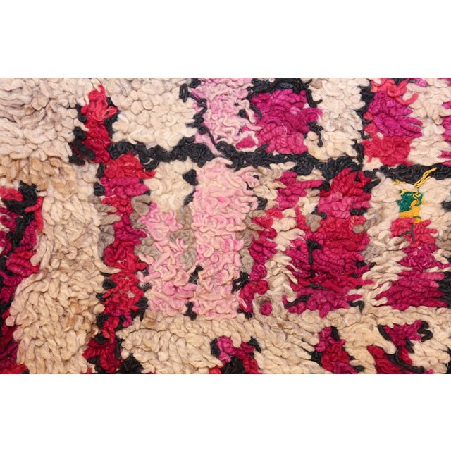 Vintage Moroccan Colorful Wool Rug - 3′5″ × 5′9″ For Sale - Image 4 of 10