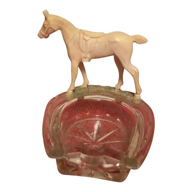 Horse Shoe Shaped Ashtray - Image 1 of 8