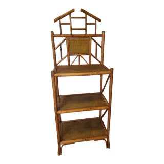 1920s Pagoda Top Bamboo Etagere For Sale