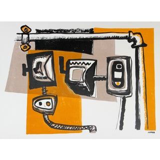 Electricity Detail Lithograph by Jerry Opper For Sale