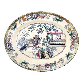 Large 19th-C. Platter by H & C For Sale