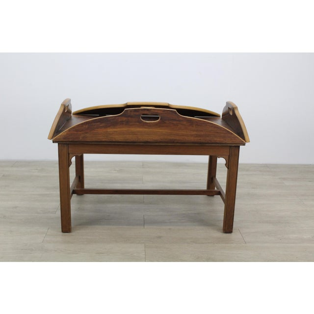 1970s Mid-Century Walnut Tray Table For Sale - Image 5 of 12