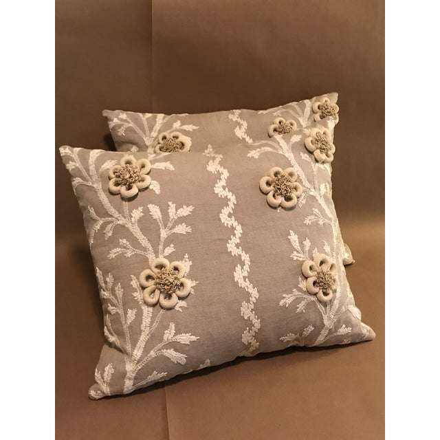 """Swedish Brunschwig & Fils Pillows in """"Sea Vine"""" Wheat - a Pair For Sale - Image 10 of 10"""
