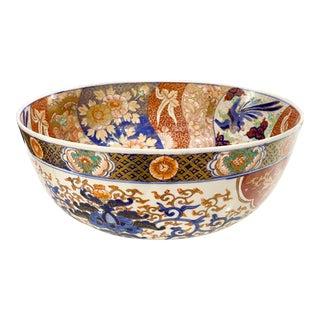 Antique Japanese Imari Porcelain Centerpiece / Punchbowl For Sale