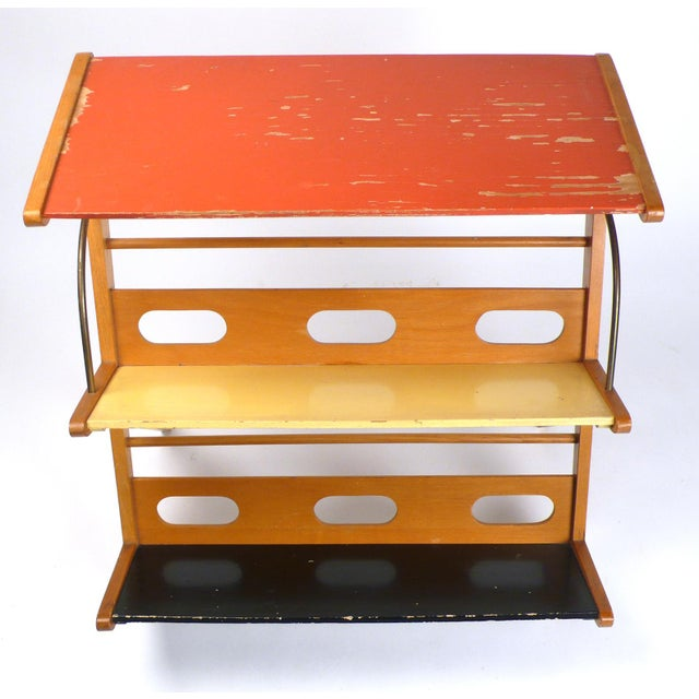 1950s Rare 1950s Magazine Rack or Newspaper Holder For Sale - Image 5 of 9
