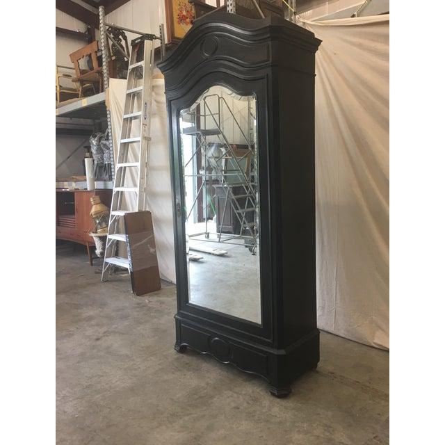 Antique French Ebonized Mirror Armoire - Image 11 of 12