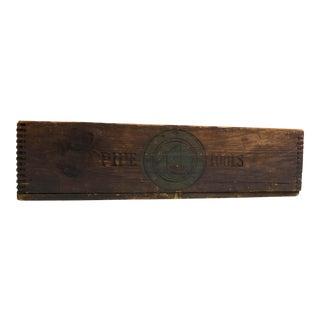 Vintage Industrial Rustic Wells & Sons Box Tool Storage Pipe