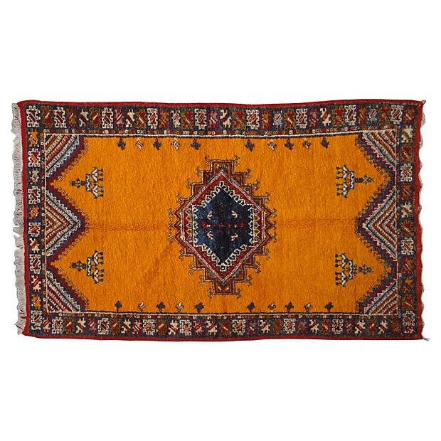 Moroccan Rug- 6'4'' X 3'6'' For Sale