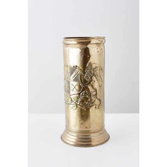 Brass Coat of Arms Umbrella Stand Holder For Sale - Image 11 of 11