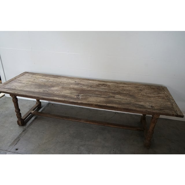 French Antique Oak Dining Table For Sale - Image 3 of 10