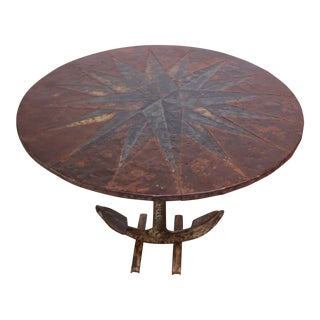 Mid 20th Century Mixed Metal Nautical Anchor Dining Table For Sale