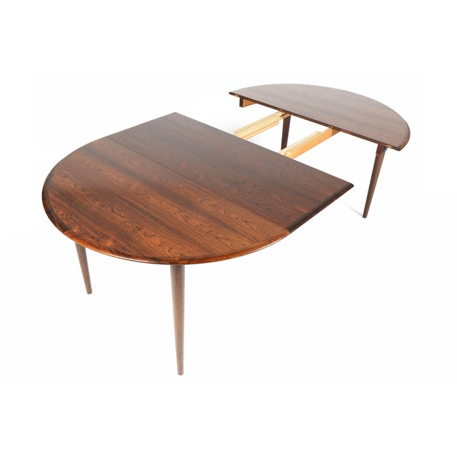 Rosewood Circular Dining Table With Two Leaves - Image 7 of 10