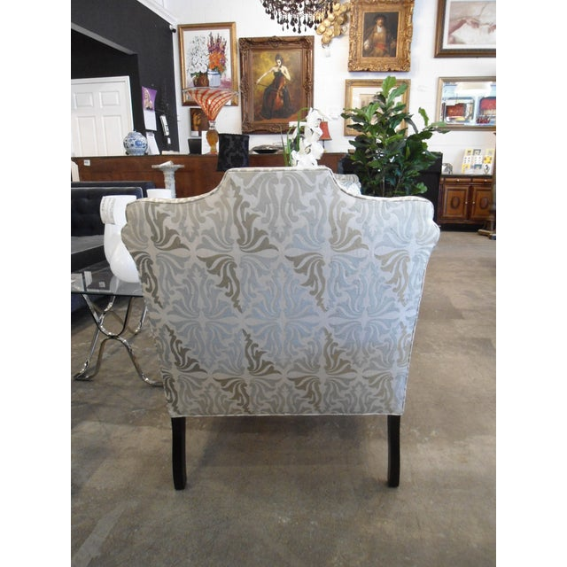 White & Silver Bergere Arm Chair - Image 7 of 10