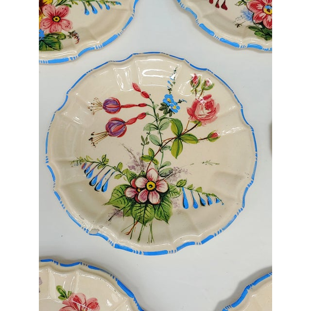 Shabby Chic 1930s Nove Rose Plates - Set of 6 For Sale - Image 3 of 7