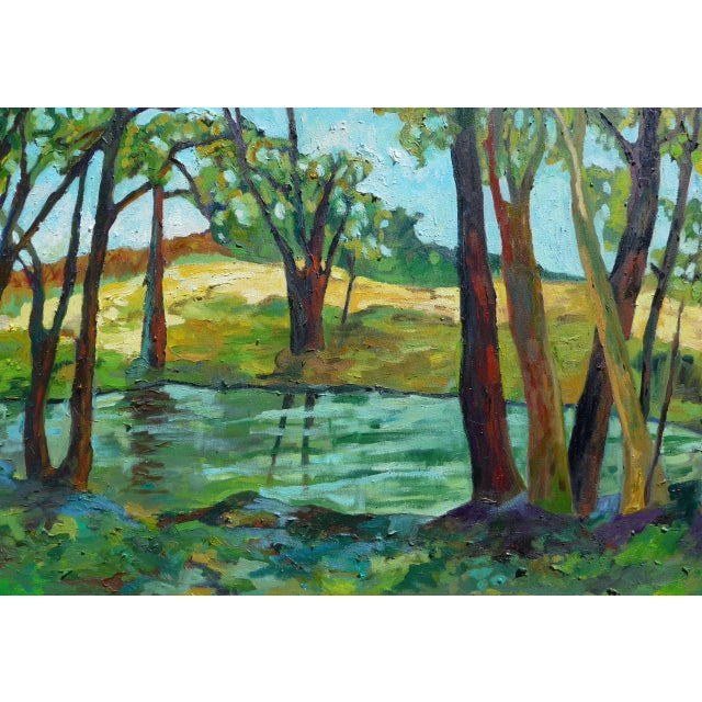 Contemporary Summer Landscape Painting - Image 2 of 5