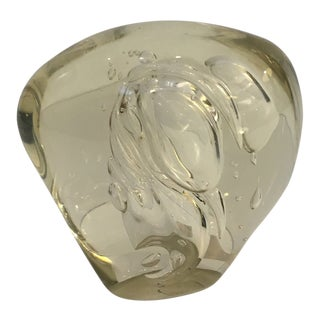 Robert Barber Art Glass Paperweight For Sale