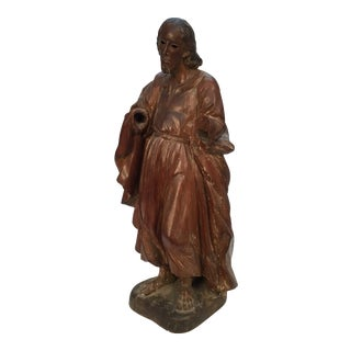 18th Century Carved Statue of Saint For Sale