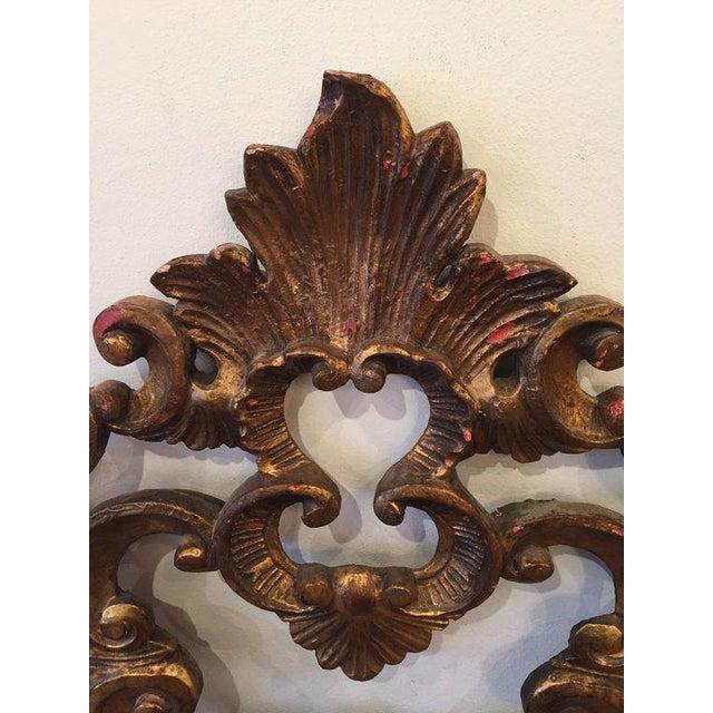 Florentine Gilded Rococo Headboard - Image 7 of 7