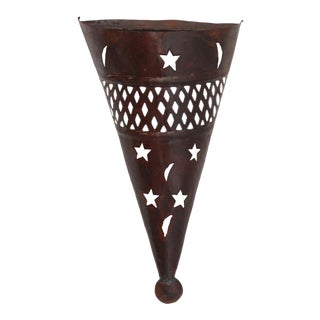Moroccan Metal Wall Sconce Shade For Sale