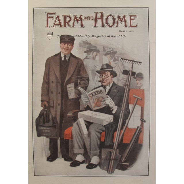 1919 Original Vintage Farm and Home Magazine Cover, March Edition - J.F Kernan - Image 2 of 6