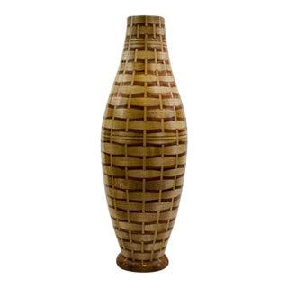 Maple and Tiger Wood Vase Basket #2 For Sale