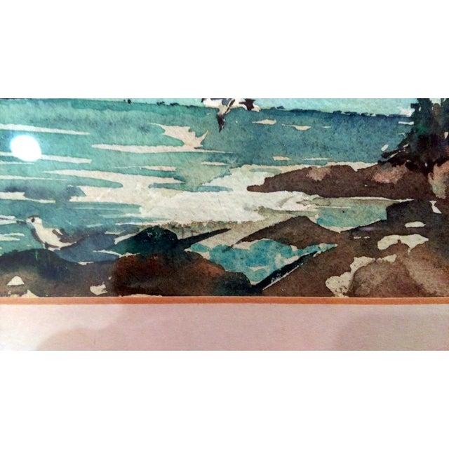 Harriet Ermentrout Seascape Watercolor Painting - Image 6 of 9