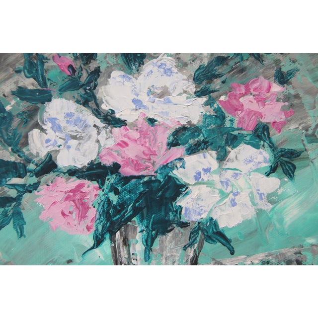 Rose Bouquet #2-Abstract Floral By. C. Plowden - Image 2 of 3