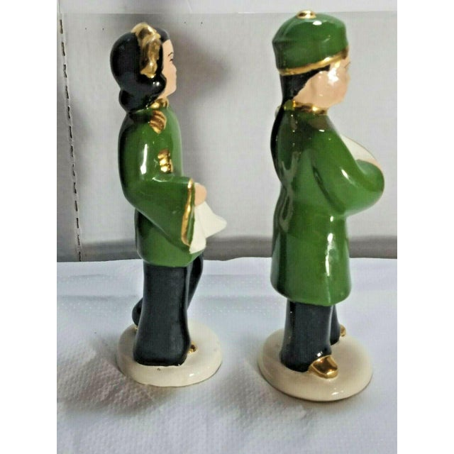 Asian Vintage M. Craver Asian Couple Porcelain Figurines - a Pair For Sale - Image 3 of 9