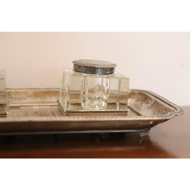 19th Century Silver Inkwell by j.g &S John Grinsell & Sons, London 1897 For Sale - Image 4 of 10