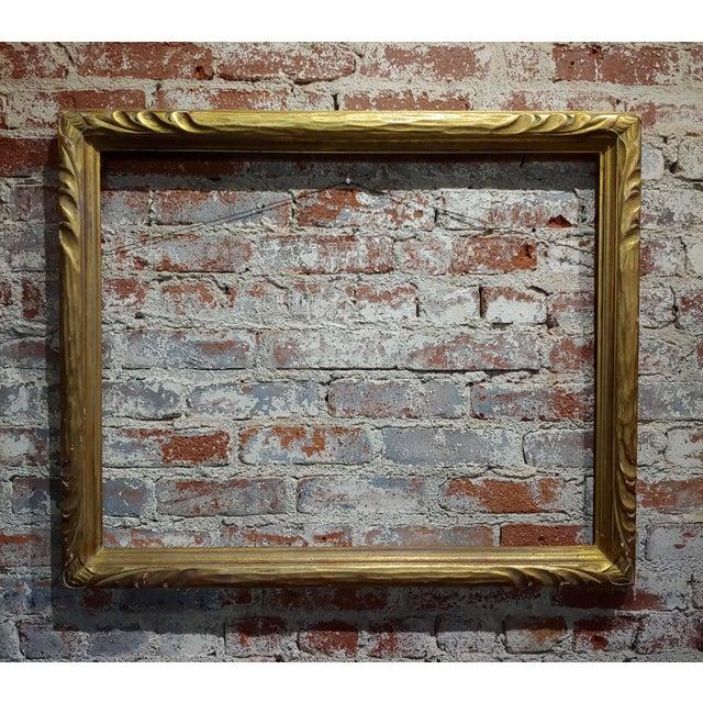 """Art Nouveau 24x30"""" Gilt Wood Frame -C1900s For Sale - Image 11 of 11"""